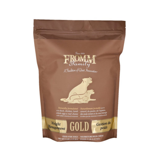 Fromm Gold Weight Management Dry Dog Food 5lb (Brown)