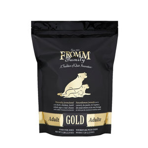 Fromm Gold Adult Dry Dog Food 5lb (Black)
