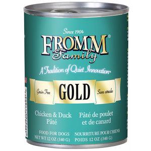 Fromm Gold Grain Free Chicken & Duck Pâté Wet Dog Food 12.2oz