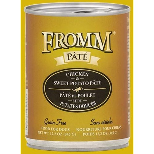 Fromm Gold Grain Free Chicken & Sweet Potato Pâté Wet Dog Food 12.2oz