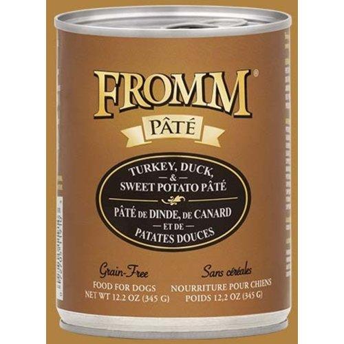 Fromm Gold Grain Free Turkey Duck & Sweet Potato Pâté Wet Dog Food 12.2oz