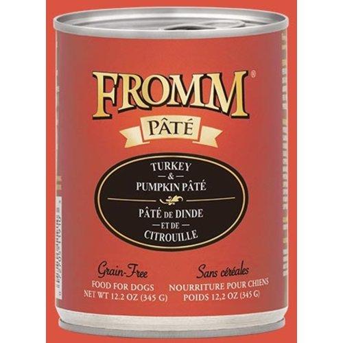 Fromm Gold Grain Free Turkey & Pumpkin Pâté Wet Dog Food 12.2oz