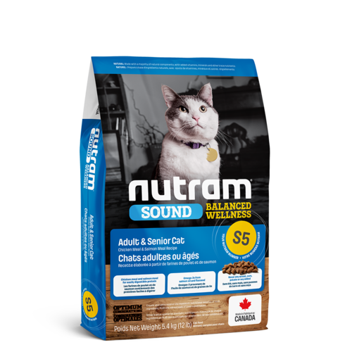 Nutram Cat S5 Sound Adult Dry 5.4kg