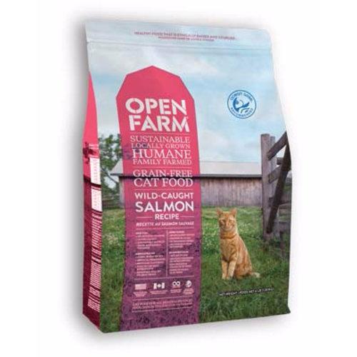 Open Farm Wild-Caught Salmon Dry Cat Food 4lb