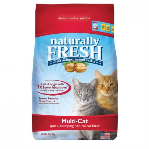 Naturally Fresh Walnut Clumping Cat Litter Multi Cat 6.35kg