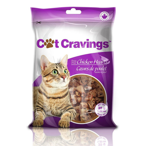 Cat Cravings Freeze Dried Chicken Hearts 35g