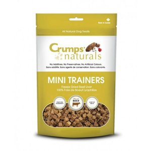 Crumps Mini Trainers Freeze Dried Beef Liver Bites 105g
