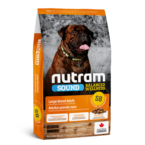 Nutram Dog S8 Sound Large Breed Adult Dry 11.4 kg