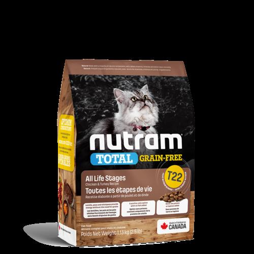 Nutram Cat T22 Total Grain Free Chicken & Turkey Dry 1.13kg