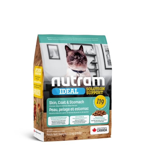 Nutram Cat I19 Ideal Skin Coat & Stomach Dry 1.13