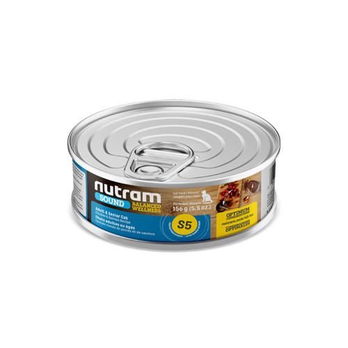 Nutram Cat S5 Sound Senior Wet Food 5oz can - each