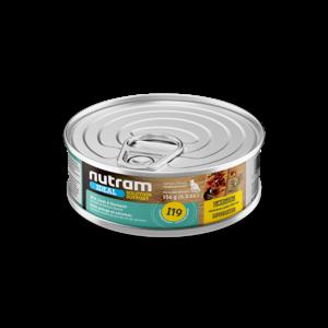 Nutram Cat I19  Ideal Skin, Coat & Stomach Wet Food 5oz can - each