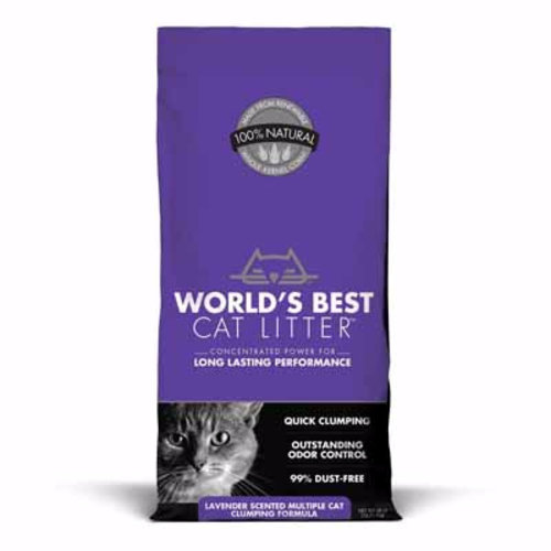 World's Best Cat Litter Multi Cat Scented Clumping Cat Litter 7lb - purple - each