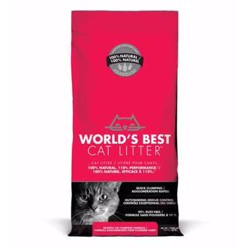 World's Best Cat Litter Multi Cat Clumping Cat Litter 28lb - red