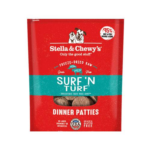 Stella & Chewy's Dog Surf 'N Turf Freeze-Dried Dinner Patties 14oz