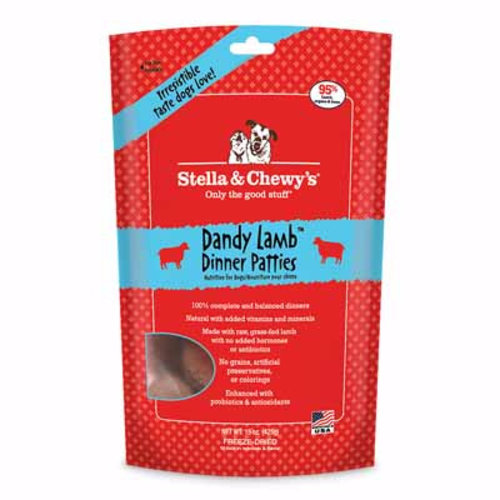 Stella & Chewy's Dog Dandy Lamb Freeze-Dried Dinner Patties 5.5oz