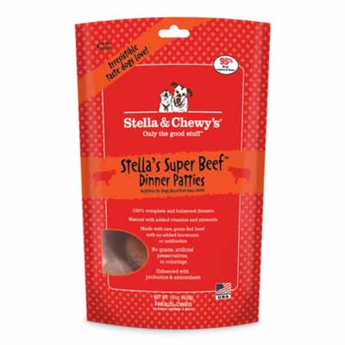 Stella & Chewy's Dog Stella's Super Beef Freeze-Dried Dinner Patties 5.5oz