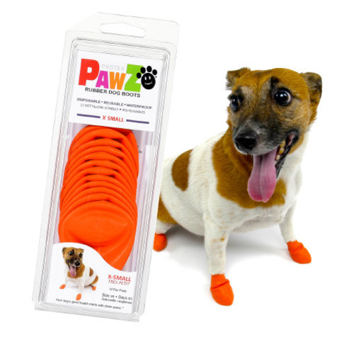 Pawz Dog Boots - X Small Orange