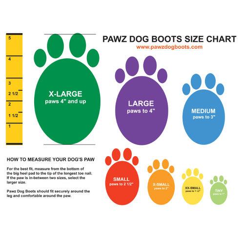 Pawz Dog Boots - X Large Black