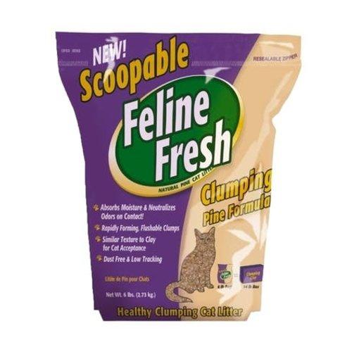 Feline Fresh Clumping Pine Cat Litter  2.7kg - each
