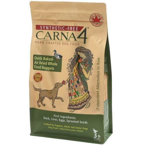 Carna4 Grain Free Duck Dry Dog Food 1.36kg (3lb)