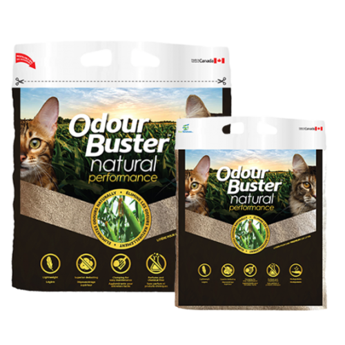 Odour Buster Clumping Natural Corn Cat Litter 12kg bag