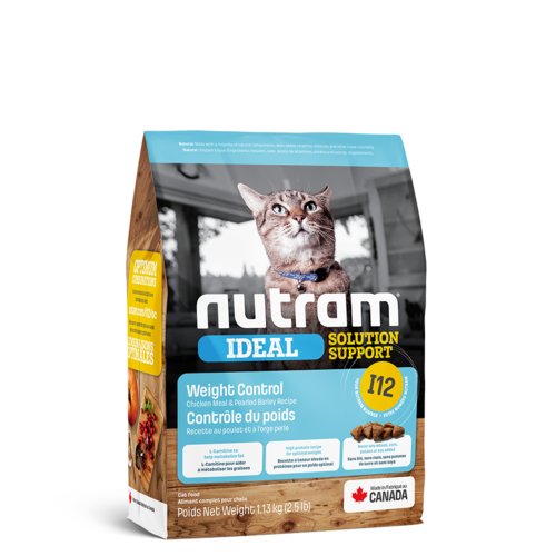 Nutram Cat I12 Ideal Weight Control Wet Food 5oz can - each