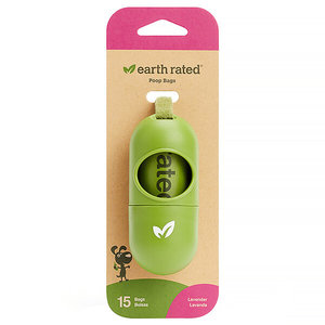 Earth Rated Poop Bags Dispenser w/roll Lavender
