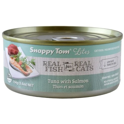 Snappy Tom Lites Tuna w/ Salmon Wet Cat Food 85g - each
