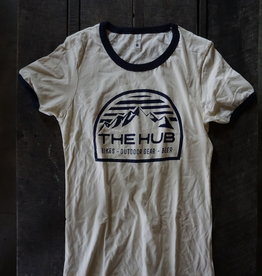 The Hub W Hub Dome Logo Ringer Tee -