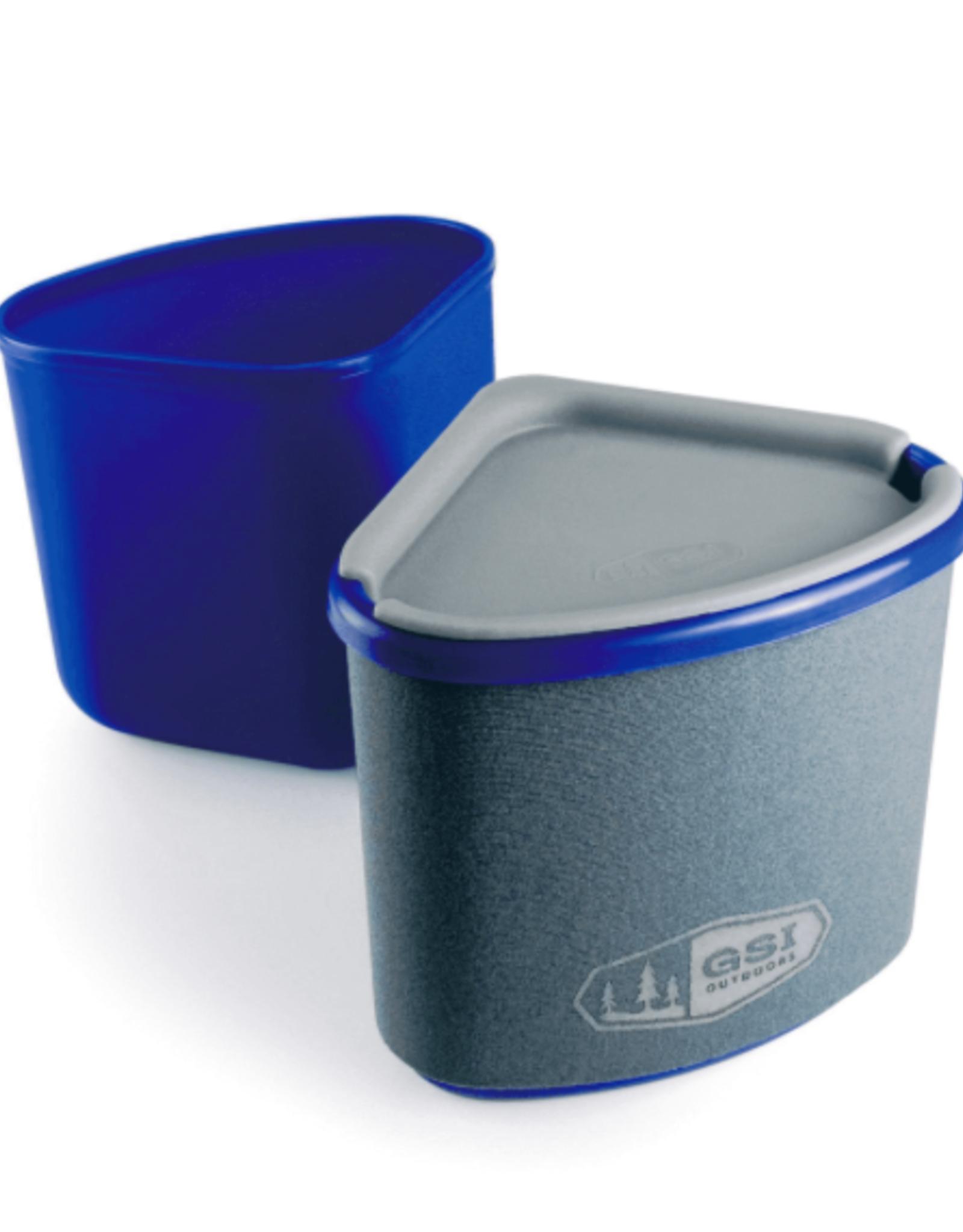 GSI Gourmet Nesting Mug + Bowl- Blue