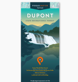 Pisgah Map Company WNC Trail Guide Dupont Map
