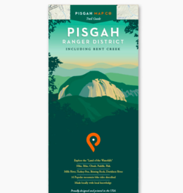 Pisgah Map Company WNC Trail Guide Pisgah Ranger District Map