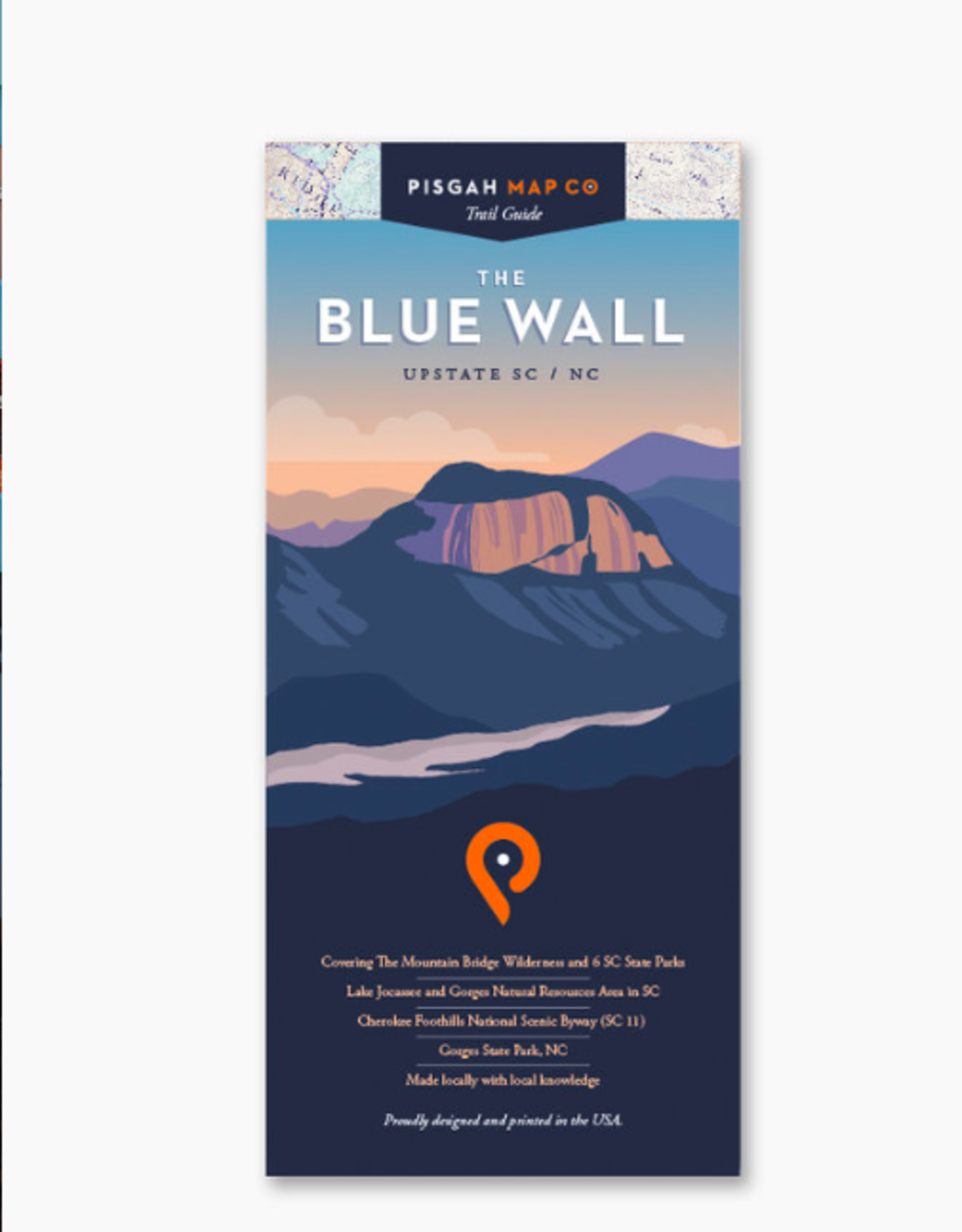 WNC Trail Guide Blue Wall Map