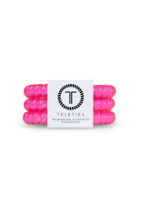 TELETIES Hot Pink 3-pack