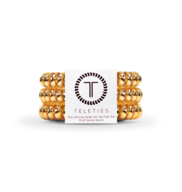 TELETIES Champagne Gold 3-pack
