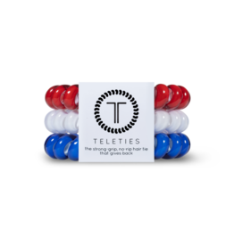 TELETIES Red, White, Blue 3-pack