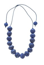 INK + ALLOY Blue Leather Bead Adjustable Necklace