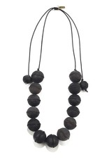 INK + ALLOY Black Leather Bead Adjustable Necklace