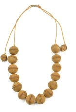 INK + ALLOY Mustard Leather Bead Adjustable Necklace