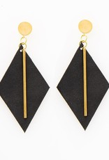 INK + ALLOY Black Diamond Leather Earring