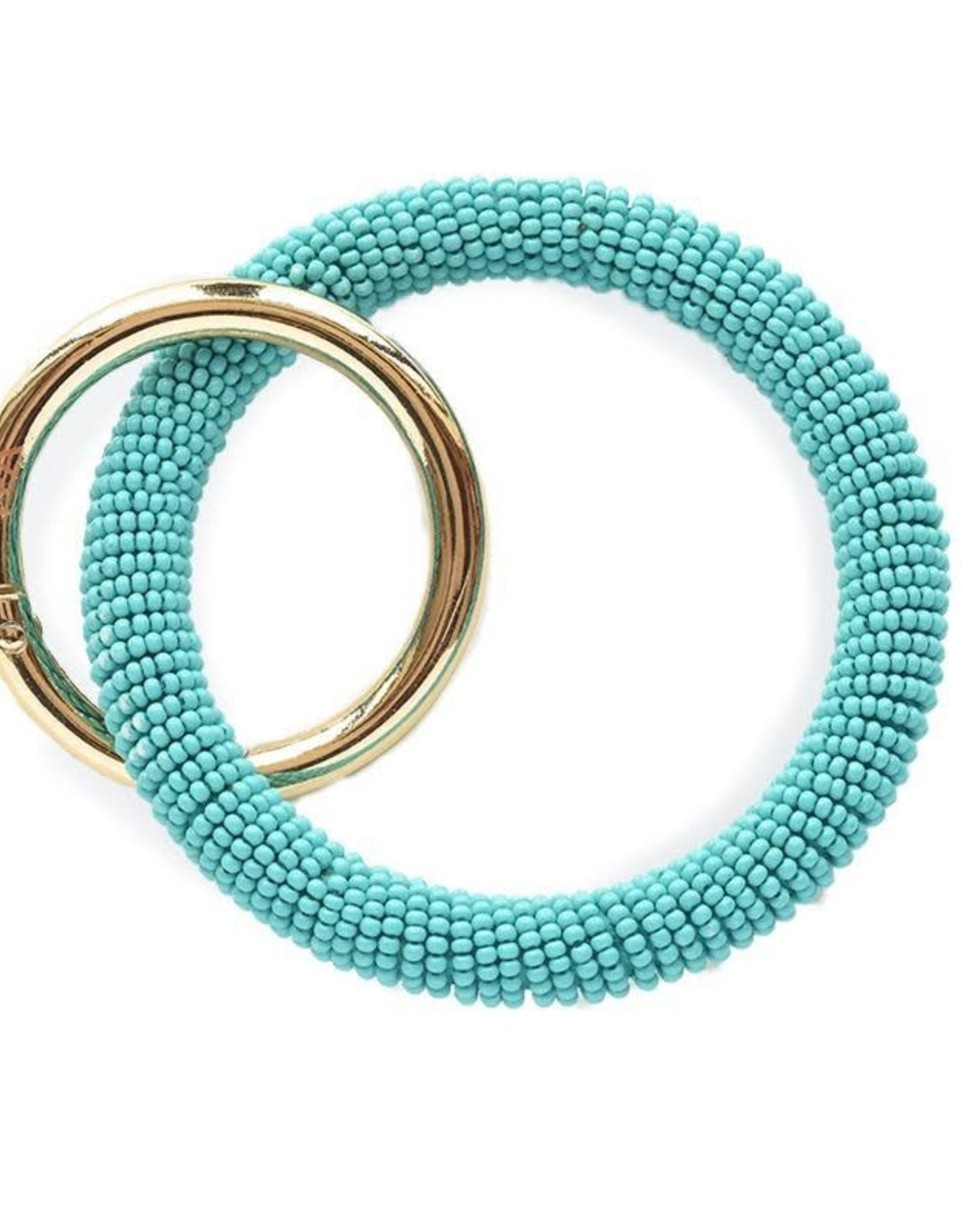 INK + ALLOY Turquoise Seed Bead Key Ring