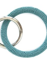 INK + ALLOY Teal Seed Bead Key Ring