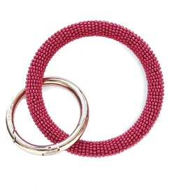 INK + ALLOY Red Seed Bead Key Ring