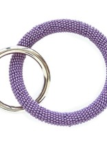 INK + ALLOY Lilac Seed Bead Key Ring