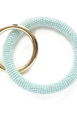 INK + ALLOY Light Blue Seed Bead Key Ring