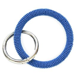 INK + ALLOY Lapis Seed Bead Key Ring