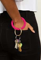 INK + ALLOY Hot Pink Seed Bead Key Ring