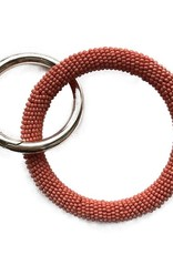 INK + ALLOY Coral Seed Bead Key Ring