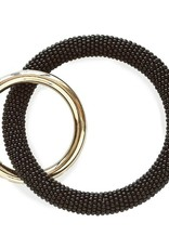 INK + ALLOY Black Seed Bead Key Ring
